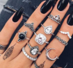 Finger Ring for Women - 10 Pieces Set