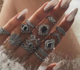 Finger Ring for Women - 14 Pieces Set