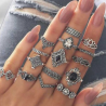 Finger Ring for Women - 15 Pieces Set