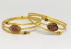 Gold Plated Bracelet Bangle TR-1016