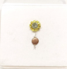 Gold Plated Stone Setting Nose Pin TR-1385
