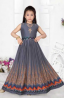 Indian Silk Party Gown for Girls – 548