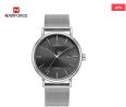 NAVIFORCE Stainless Steel Ladies Watch (Silver-Black) - NF3008