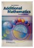 New Syllabus Additional Mathematics (7th Edition) Prof. Lee Pang Yee