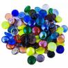 Painted Asymmetrical Fire Glass Pebbles Decorative Stone For Garden/Lawn/Aquarium Decoration Polishe