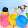 Plastic Pet Bowl Candy Color Dog Bowls Round Single Bowl Cat Dog Bowl Food Bowls