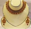 Ruby Champagne Necklace Set - BK 35