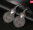 Vintage Ethnic Big Flower Drop Earring - VSCEBFDE