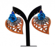 Wood & Gold Plated Earring TR-777