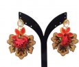 Wood & Gold Plated Earring TR-779