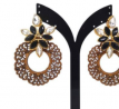 Wood & Gold Plated Earring TR-780