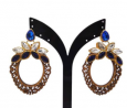 Wood & Gold Plated Earring TR-781