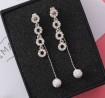 Zircon Stone Long Drop Earring – SL026