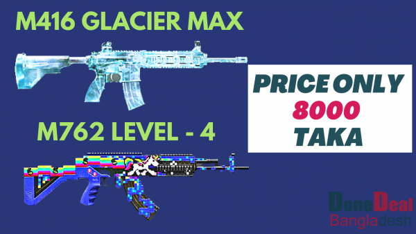 PUBG MOBILE ACCOUNT FOR SALE WITH || M416 Glacier Max | M762 Level - 4 | Groza Level-4 | Dp28 Level-4