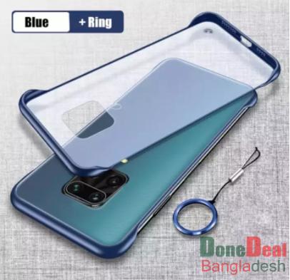 For Xiaomi Redmi Note 9 Pro / Redmi Note 9s / Redmi Note 9 Pro Max / Poco M2 ProCase Cover Ultra-thin frameless Ring Design transparent matte Back Cas