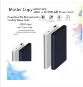 60000mAh Slim Stylish Pocket Power Bank With Charging Cable