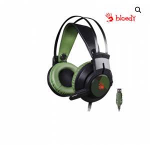 A4TECH BLOODY J437 GLARE GAMING HEADPHONE (GREEN/BLACK)