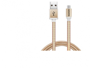 ADATA AMUCAL 100CM GOLDEN MICRO USB TYPE A ALUMINUM CABLE