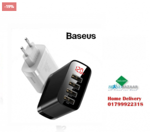 Baseus 4 Ports 30W Digital Display USB Phone Charger