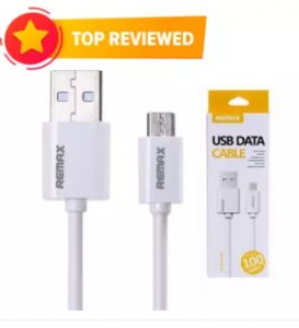 Fast Charging Micro USB Data Cable - White