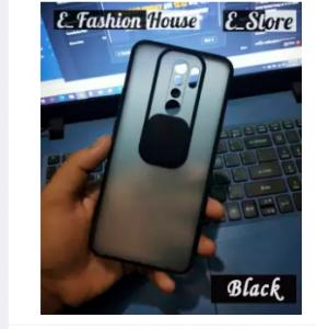 For Redmi 9 / Poco M2 Mobile Cover Translucent Matte Shockproof Camera Slide Protection Case