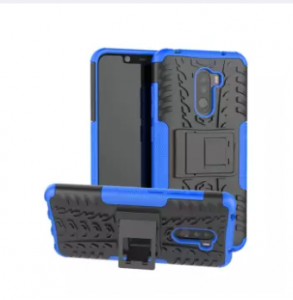 Hybrid Armor Case For Poco F1 / Pocophone F1 Shockproof Protective Cover With Backside Stand