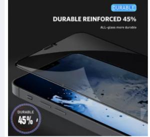 iPhone 12 PRO MAX /12 pro/12/12 mini/ 11 pro max/11 pro /11/Xs max/Xs/X/Xr privacy Hardness Tempered