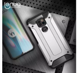Lenuo for Motorola Moto G9 Play / E7 Plus Case TPU+PC Hybrid Back Cover