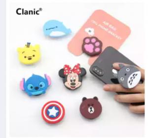 New Universal 3D Cute Cartoon Finger Ring Holder Phone airbag Socket Telefon AirPOP UPB bag Griptok