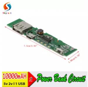 Power Bank Circuit 5V 2A Single USB DIY Power Bank
