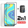 2 in 1 tempered glass for redmi note 9 pro / 9pro max screen protector camera lens protective glass