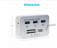7 In 1 Card Reader With USB Hub Brand New