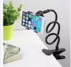 Universal Flexible Long Arms Lazy Bed Desktop Mobile Phone Holder Stand - Black