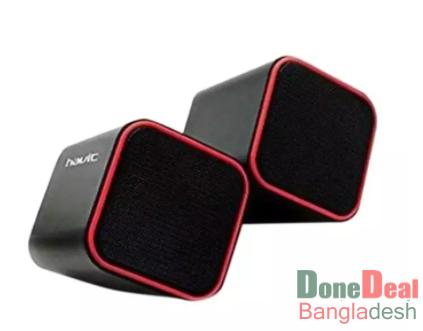 Channel 2.0 USB Multimedia PC Speaker HV-SK473 - Black