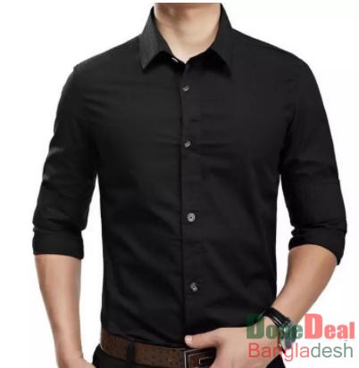 Mixed Cotton Men's Full Sleeve Shirt