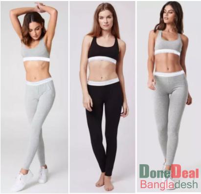 Premium Quality Modern Cotton Sports Bra with Long Leggings Yoga Set for Women