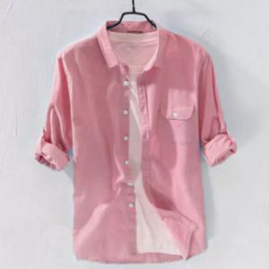 2021 New Stylish Regular Slim Fit chak Cotton Long Sleeve Formal Shirt For Men