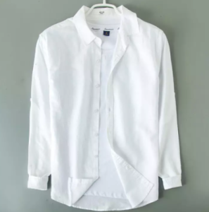 2021 Stylish Regular Slim Fit Blank Cotton Long Sleeve Formal Shirt For Men