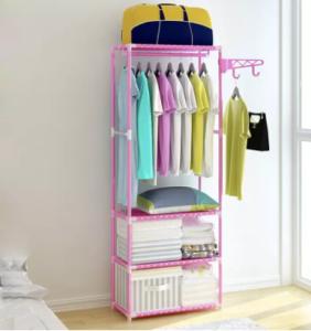 BeautyLand Korean Multipurpose 3 Layer Cloth Organizer Rack Wardrobe Coat Rack Cloth Hanger