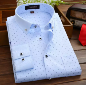 Best quality Men's full sleeve chak Cotton Formal Shirt