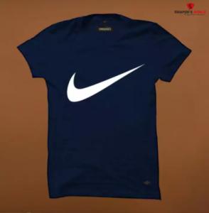 Blue Cotton Half Sleeve T-Shirt for Men Code-SW3804T