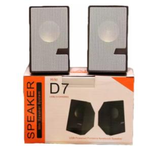 D7 Sound Multimedia 3D Speaker System Mini USB 2.0