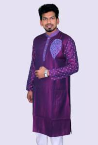 Elegant Outfit Cotton Semi Long Panjabi for Men