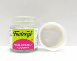 Fevicryl Acrylic Colour- Pearl Metallic Silver 10 ml