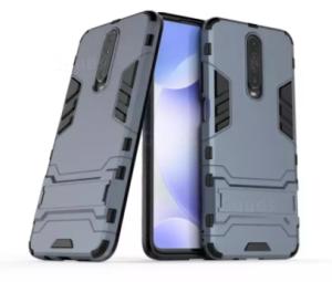 For Xiaomi Poco X2 / Redmi K30 / K30 5G / K30i 5G / Luxury Iron Man Hard Armor and Soft Silicone TPU
