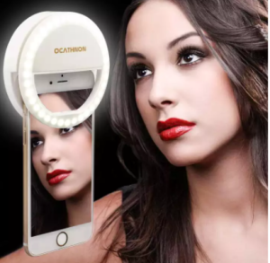 Rechargeable Mobile Selfie Ring Light, Selfie Ring Light for Live Video Call, মোবাইল স