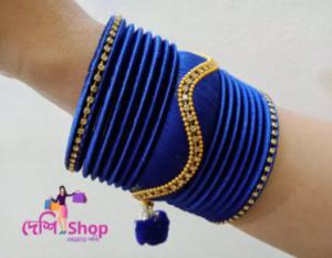 Silk thread reshmi bangle Churi bracelets for women and girls fashion