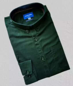 Solid color Cotton Long Sleeve Casual Shirt for Men