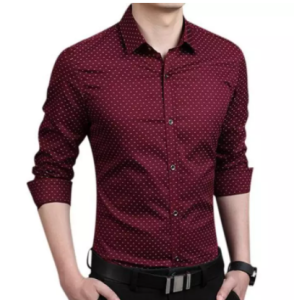 Stylish & Fashionable Trendy Cotton Ball Printed Long Sleeve Formal Shirt For Men