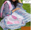 Block Printed Cotton Unstitched Three Piece For Women